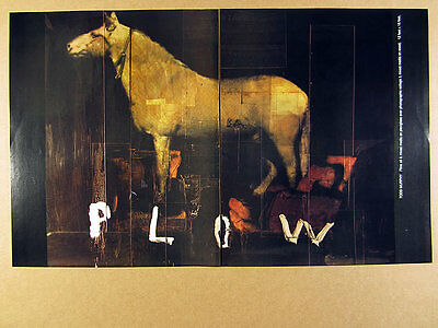 1992 Todd Murphy 'Plow' mixed-media painting LA exhibition vintage print Ad
