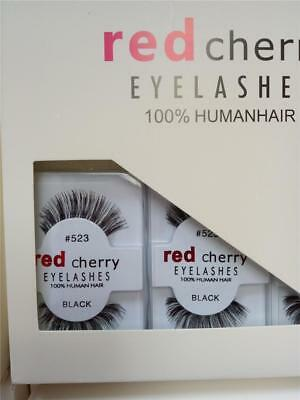 Red Cherry Lashes = 100% Human Hair False Eyelashes # High Quality Fake Lashes!