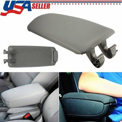 For Audi A4 B6 B7 4DR 2002-2007 Armrest Center Console Lid Cover Black Leather