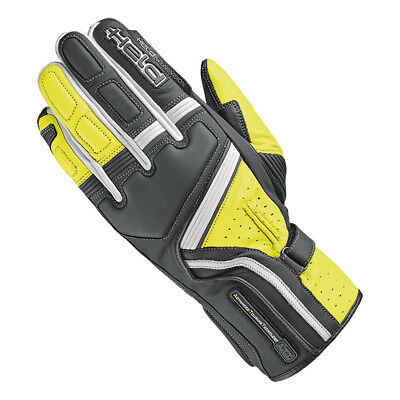 Held Travel 5 Black / Neon Yellow Motorcycle Leather Touring Gloves All Sizes
