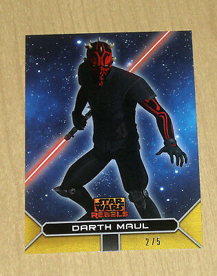 2017 Topps Star Wars Rebels On Demand GOLD parallel DARTH MAUL 9G 2/5