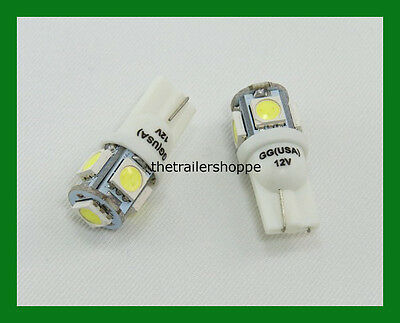 Tower 5 LED Light Bulb for #194/168 Wedge Light Bulb Lamp License Plate White