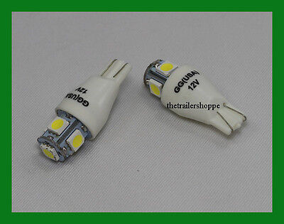 Tower 5 LED Light Bulb for #921/912 Wedge Light Bulb Lamp License Plate White