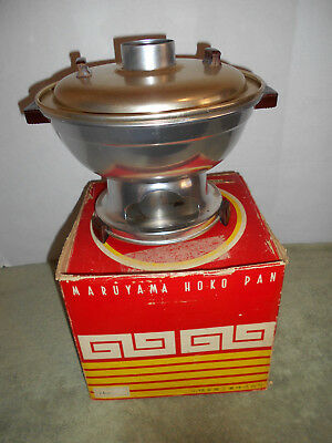 VTG Chinese Mongolian  Hoko HOT POT FIRE POT STEAMBOAT Korean Cooker In Box