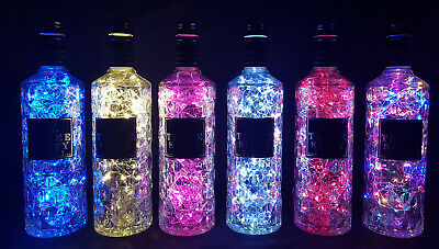 Three Sixty - Flaschen Lampe mit 80 LEDs Farbauswahl Upcycling Geschenk Idee