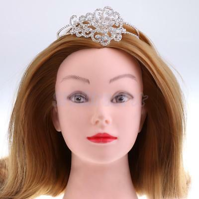 Glitter Rhinestones Princess Crown Tiara Headband Girls Woman Headpiece Gift
