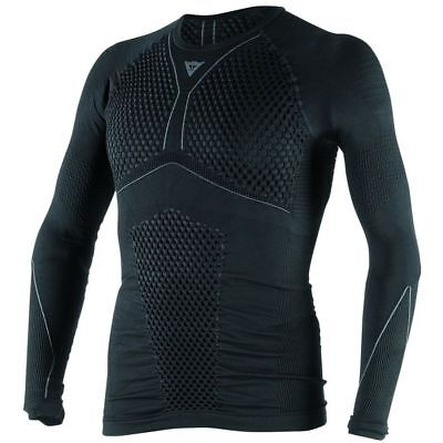 Dainese D-Core Thermo Mens Long Sleeve Base Layer Shirt Top Black/Anthracite