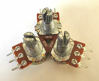 1, 2 3 Pcs 10K Ohm B10K Knurled Shaft Linear Rotary Taper Potentiometer BT