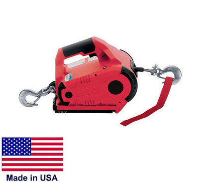 WINCH Portable - Hand Held - 1,000 Lb Capacity - 24 Volt DC - Variable Speed