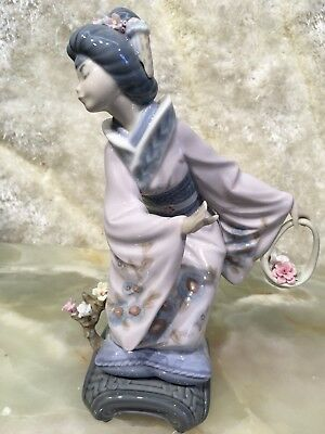 Limited Edition 1984 Hand Made Spain Lladro Girl Flower Chair Figurine