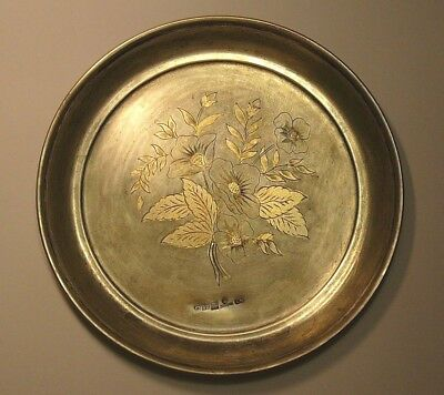 Royal Faberge Plate Imperial Russian 84 Silver Gilding S.Peterburg 1878
