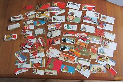 Vintage Lot Of 203 Christmas Gift Tags, Unused, 1920's To 60's