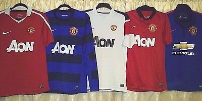 pretty nice d3cde 46ed4 5 HOME & away MANCHESTER UNITED shirts by NIKE all size M