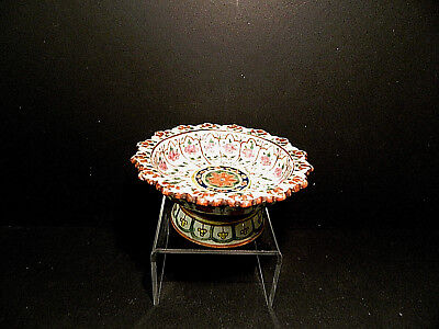 Chinese Enamel Famille Rose Porcelain Footed Bowl Qing Dynasty c.1849