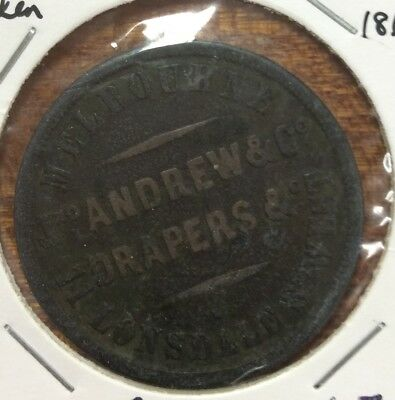 Andrew Jno and co 1862 1D token (R19) FINE - (1031)