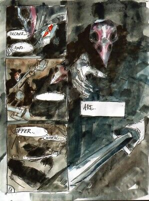 Simon DAVIS     2000ad  SLAINE   painted    page   original
