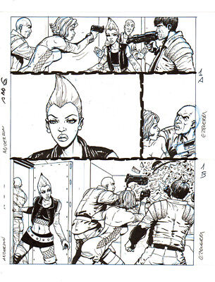 CARLOS EZQUERRA    2000ad  JUDGE ANDERSON 6p1 Full Page   original drawing