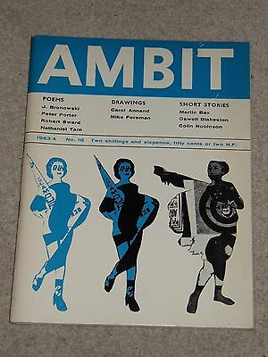Ambit Magazine (no 18 1963/4) - Poems Drawings Short Stories - Ed. Martin Bax