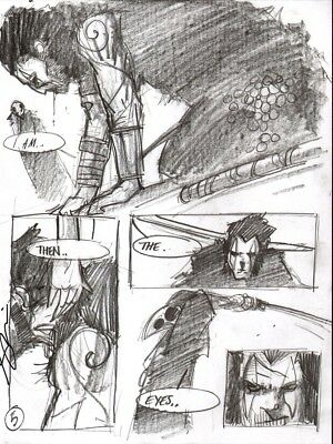 Simon DAVIS     2000ad  SLAINE   pencil    page   original
