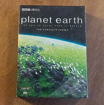 PLANET EARTH, AS YOU'VE NEVER SEEN IT BEFORE, THE COMPLETE SERIES, 5 DVD Box Set