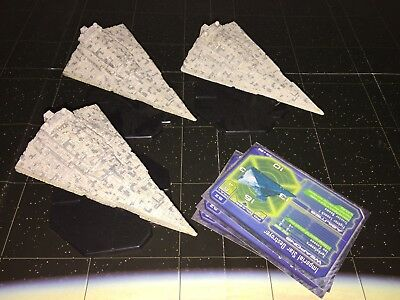 Star Wars Micro Starship Battles Lot X3 Imperial Star Destroyer 35/60 Space Ship