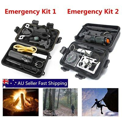 Emergency Survival Equipment Kit Outdoor Sport Tactical Hiking Camping Tool Set