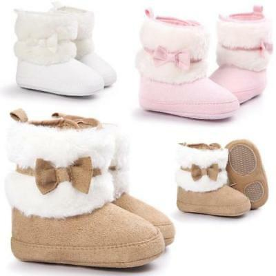 USA Baby Girl Snow Boots Winter Booties Infant Toddler Newborn Crib Shoes 0-18M