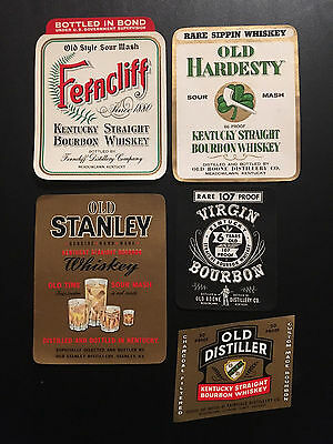 Rare Vintage Lot of 15 Kentucky Liquor/Whiskey Labels