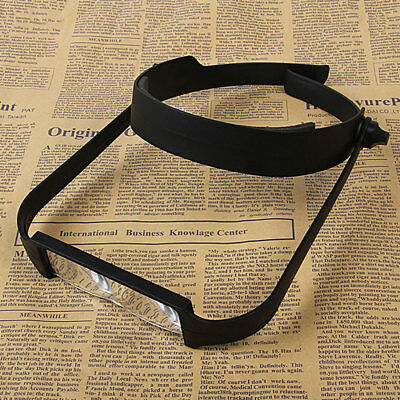 Head Headband Replaceable Lens Loupe Magnifier Magnify Glass Lens Loupe