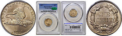 1857 Flying Eagle Cent PCGS MS-65+ CAC