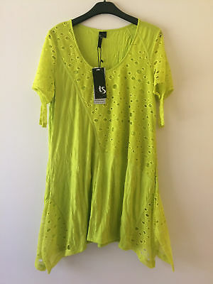 BNWT TS Taking Shape Citrus Green Tunic Top Ladies Size S 16 - 18  TS14+