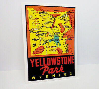Yellowstone National Park Wyoming Vintage Style Travel Decal / Vinyl Sticker