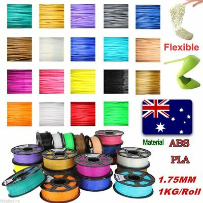 3D Printer Filament ABS PLA 1.75mm 1kg/roll 18 Colours Aussie Stock Fast Ship