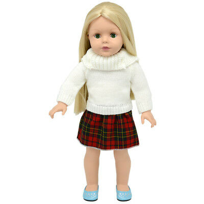 One-piece Sweater Skirt Clothes for 18' American Girl Generation Doll Outfit