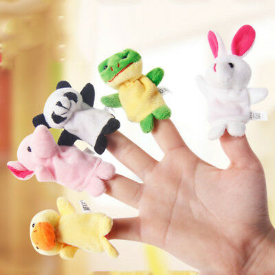 10 Pcs Animal Finger Puppets Cloth Doll Baby Educational Hand Cartoon Family Toy
