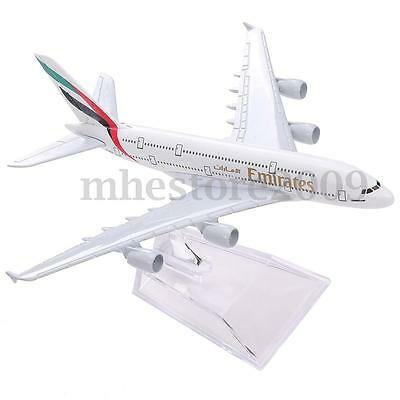 New Diecast Model Airbus380 Emirates Airlines A-380 Aircraft Aeroplane 16cm