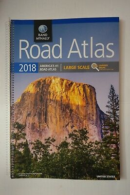 Rand McNally 2018 Spiral Bound Large Scale USA Road Atlas Fast Shipping