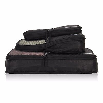 Compression Expandable Packing Cubes Waterproof Value Set for Travel - 3pcs