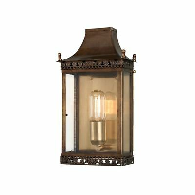 Regents Antique Brass Park Wall Lantern - Elstead Lighting REGENTS PARK BR