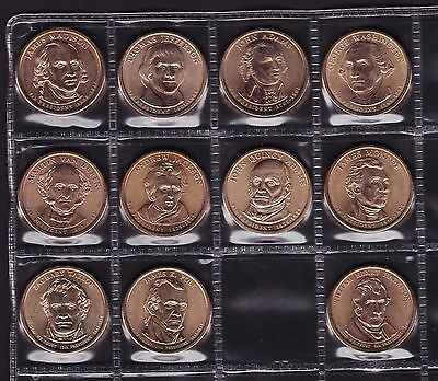United States 2007-09 $1 US Coins President Series 11 coins UNC all different
