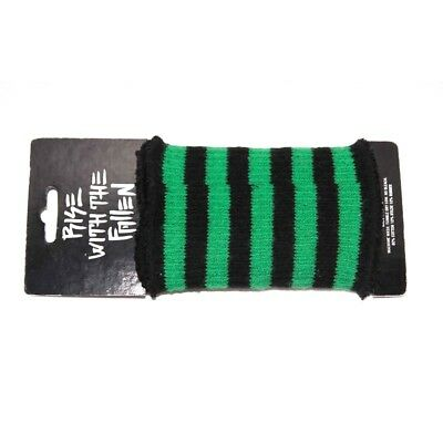 2 Poignets éponge wristbands sweat bands FALLEN black green