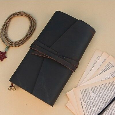 Retro Leather Journal Travel Diary Stitched Travelers Notebook