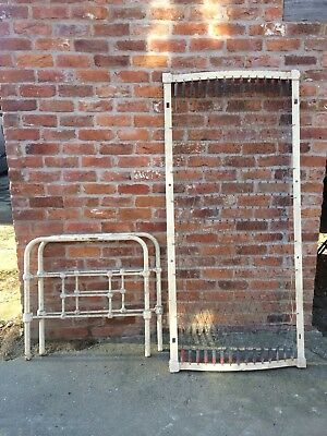 single iron bedstead