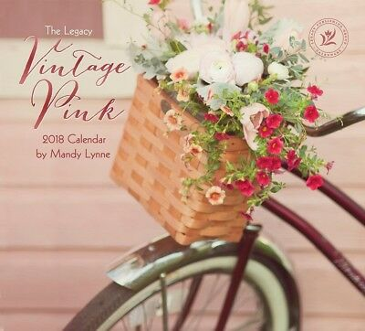 Legacy Publishing Group 2018 12-Month Wall Calendar, Vintage Pink