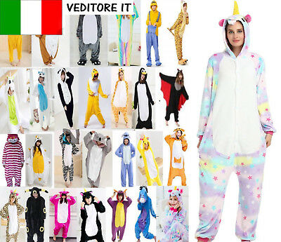 Pigiama kigurumi intero tuta_carnevale feste animali zoo costume-party Halloween
