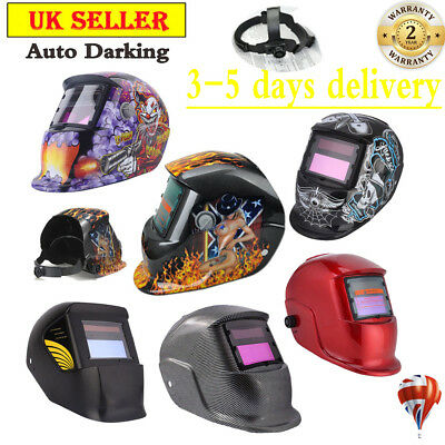 Durable Auto Darkening Welding Helmet Mask Welders Grinding Function Solar Power