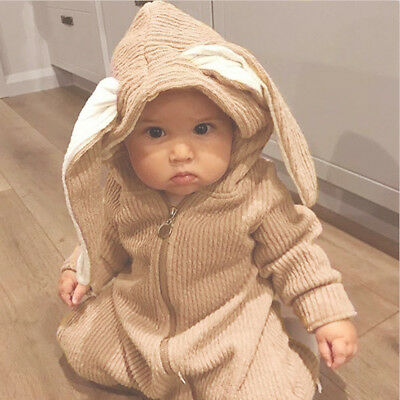 Baby Kid Child Bunny Rabbit Clothes Costume One Piece Bodysuit Jumper Suit Coat