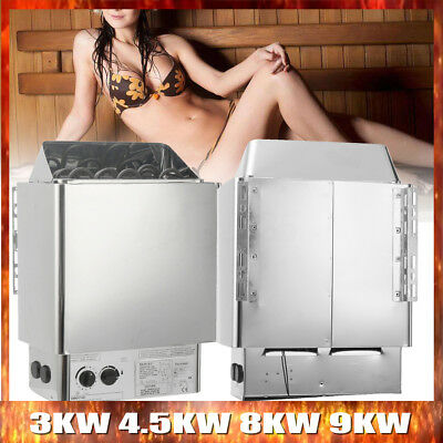 220V Sauna Heater Stove Wet & Dry Stainless Steel Internal Control 0~80℃ SPA