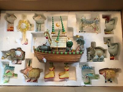Patience Brewster 2005 Noahs Ark Set Rare! 13 Pieces