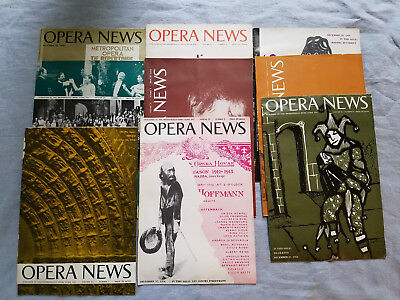 huge lot of vintage Opera News magazines various issues from 1947-1960